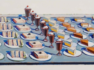 Wayne Thiebaud, Salad, Sandwiches and Dessert (1962).